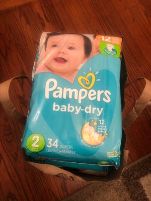 Pampers baby dry size 2 for Sale in Castro Valley, CA