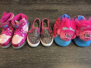 Lot of 3 girls size 9 shoes for Sale in The Colony, TX
