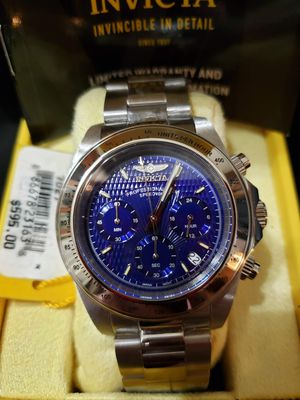 NEW Invicta Signature Collection Men's Speedway Blue Chronograph Date Watch for Sale in Glendale, AZ