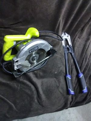 Ryobi skill saw and Bolt Cutters for Sale in Vancouver, WA