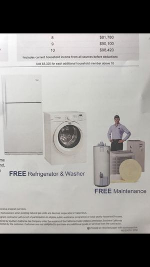 Free washer and refrigerator replacements ☎️626🔸600🔸7055 for Sale in Los Angeles, CA