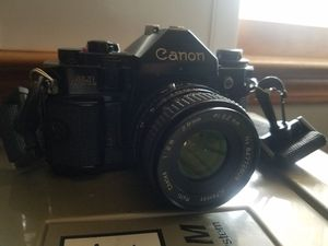 A1 Canon Vintage Camera with Accessories & Case for Sale in Lithonia, GA