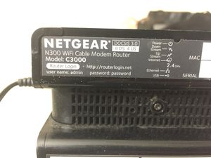 Netgear C3000. Modem with WiFi Router for Sale in Chadds Ford, PA