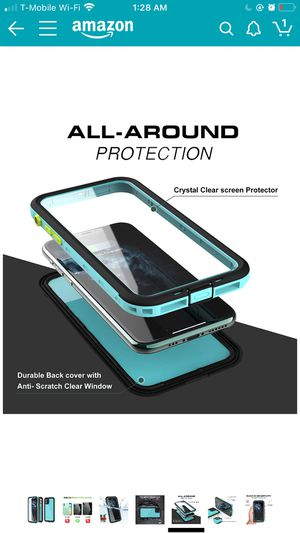 Everpwr iPhone 11 Pro Waterproof Case,Built-in Screen Protector IP68 Waterproof Shockproof Dustproof Snowproof Full-Body Rugged Cover for Apple iPh for Sale in Daly City, CA