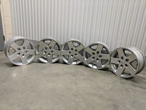 2013 OEM Jeep Wrangler wheels. Very good condition for Sale in Raleigh, NC