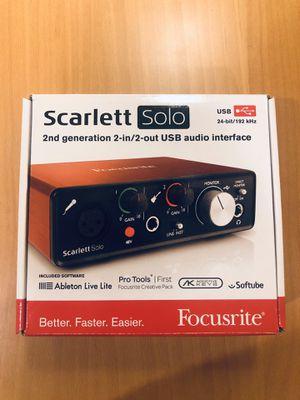 Focusrite Scarlett Solo for Sale in Alexandria, VA