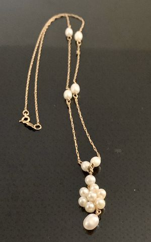 14k Gold w/ Multi Pearl Chain: 17' Authentic for Sale in Glendora, CA
