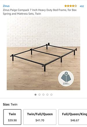 Zinus Heavy Duty Twin Size Bed Frame for Sale in San Marcos, CA