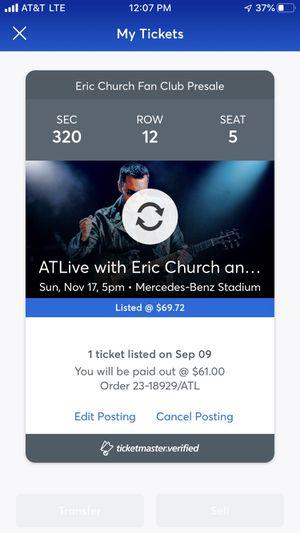 1 ticket to ATLive Sunday show for Sale in Atlanta, GA