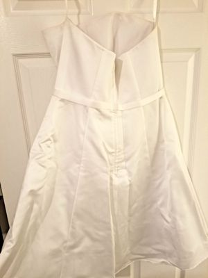 Strapless, a-line, knee length satin wedding dress sz 12 for Sale in Sorrento, FL