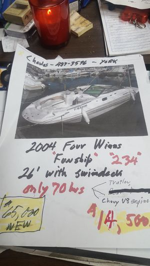 boat 4 WYNNS 2004 with swim deck for Sale in York, PA