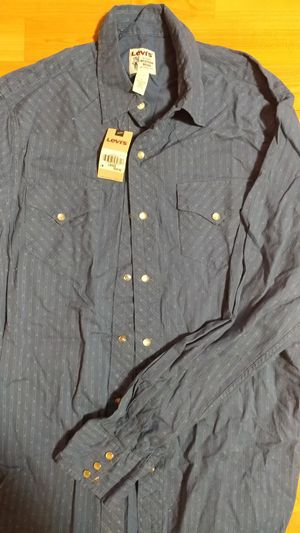 Levis western shirt brand new with tags. Originally $58. Size large for Sale in Chicago, IL