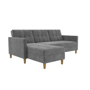 Gray reversible sectional couch with storage compartment for Sale in West McLean, VA