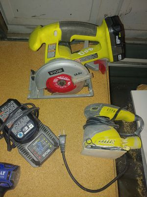 Ryobi saw and sander with charger and 2 batterys for Sale in Phoenix, AZ