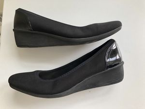 Anne Klein Sport AK Wedge Pump Heels 374, Black Stain Resistant Sz 6.5. Super comfortable, sport, dress, or career shoe, cushioned. for Sale in Washington, DC