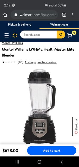 Montel Williams LWHME HealthMaster Elite Blender for Sale in El Cajon, CA