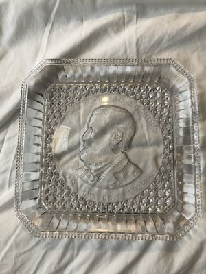 "Antique EAPG ""The Patriot and Soldier"" Ulysses S. Grant Square Clear Glass Plate for Sale in Avondale, AZ"