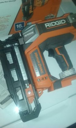Ridgid 18v hyper drive finish nailer tool only price is firm for Sale in Fontana,  CA