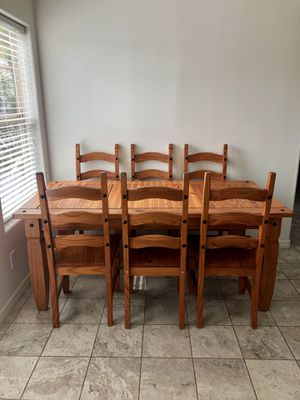 Wooden dining room table and chairs for Sale in Los Angeles, CA