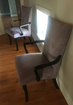 Pair of grey velvet arm chairs for Sale in Delaplane, VA