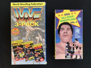 Vintage Wresting VHS tapes Lot /WWF/USA ALL STAR/ANDRE THE GIANT for Sale in Indianapolis, IN