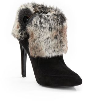 Via Spiga Women's Black Yetta Faux Fur Suede Ankle Boots Sz 9M for Sale in Bellevue, WA