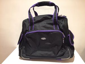 OLYMPIA FASHION BLACK AND PURPLE ROLLING TOTE BAG for Sale in La Habra Heights, CA
