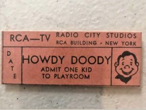 Original howdy Duty ticket from Radio City Studios peanut gallery ticket only four exist willing to trade a Cadillac for it for Sale in Hamden, CT