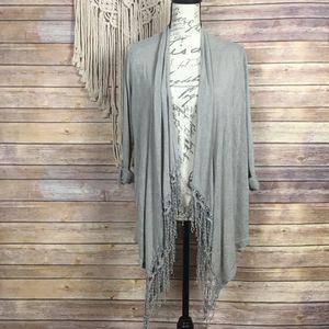 Bobeau | Grey Fringe Waterfall Front Cardigan- SZ S for Sale in Las Vegas, NV
