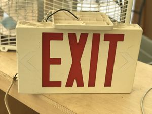 Red exit sing excellent condition for Sale in Houston, TX