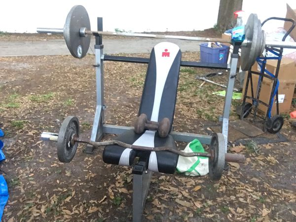 Olympic size Iron Man weight bench