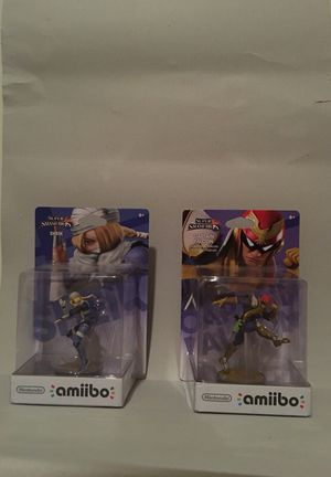 SHEIK AND CAPTAIN FALCON AMIIBOS SOLD SEPARATELY OR TOGETHER- COMPLETE IN BOX- BRAND NEW for Sale in Rockville, MD
