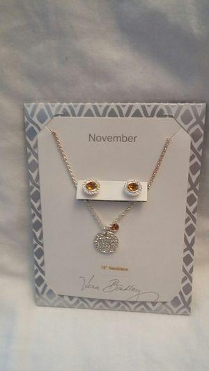 "Vera Bradley 16"" Necklace And Earings November Gem Stone for Sale in North Tonawanda, NY"