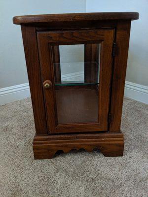 Oak Display Cabinet End Table for Sale in Chandler, AZ