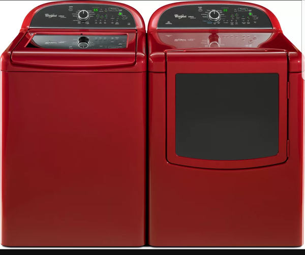 whirlpool cabrio platinum red set