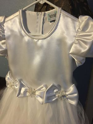 Girls Size 10 Sugar Plum white formal special occasion dress communion flower girl for Sale in Austin, TX