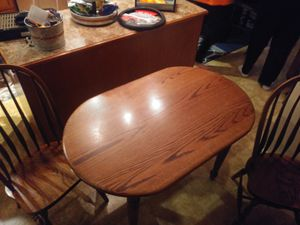 Wooden kitchen table with 2 chairs for Sale in Bethlehem, PA