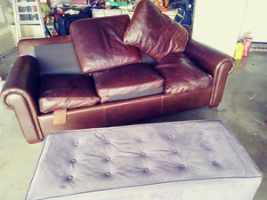 free sofa and desk chair for today for Sale in Cedar Hill, TX