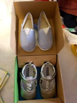 3 pair of toddler BOOTS and shoes size 5/6 toddler for Sale in Hensley, AR