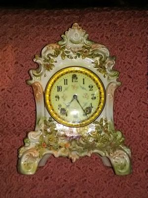 W. Gilbert pre 1930 antique porcelain mantle clock for Sale in Ceres, CA