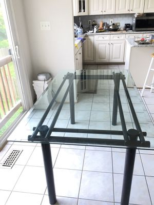 Glass top dining table for Sale in Gainesville, VA