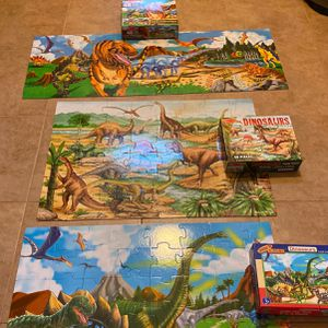 3 Large Floor Dinaosaur Puzzles for Sale in Houston, TX