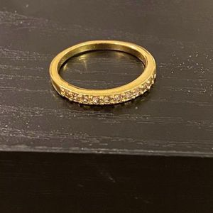 18K Yellow Gold plated Promises/Wedding Ring- Code W101 for Sale in Dallas, TX