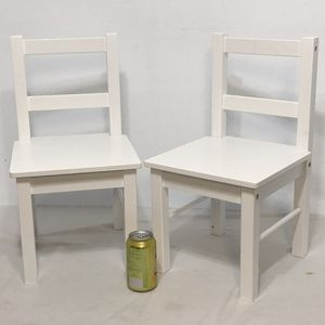 SET OF 2 CHILD'S WOODEN CHAIR - WHITE for Sale in Farmers Branch, TX