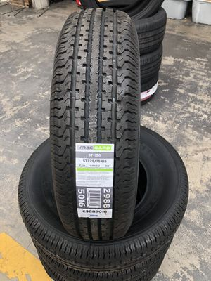 TRAILER TIRES 10 ply 225/75/15 MOUNTED AND BALANCED for Sale in Lakewood, CA