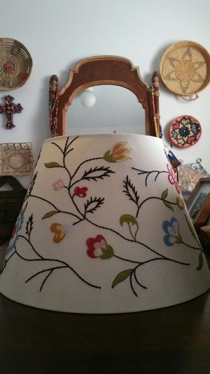 Embroidered lamp shade for Sale in Los Angeles, CA