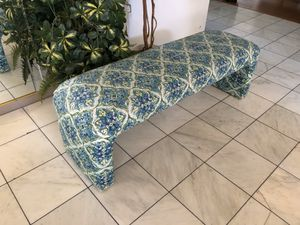 Blue/ Turquoise Pattered Bench for Sale in Gilbert, AZ