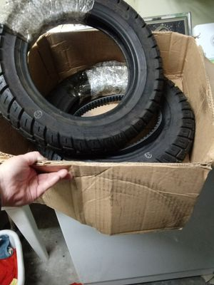 New Set of 3.5x10 tires & parts for small motorcycle for Sale in Gulfport, MS