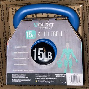 15 LB Aduro Kettlebell Weight w/ Durable Coated Material for Sale in Kissimmee, FL
