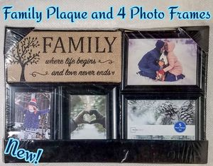 Family Plaque and 4 Picture Frames for Sale in Bolingbrook, IL